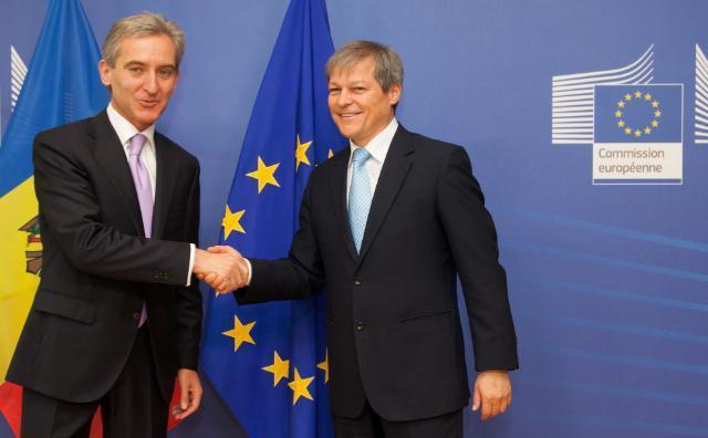 Premierul Republicii Moldova, Iurie Leancă, şi Comisarul pentru agricultură şi dezvoltare rurală, Dacian Cioloş