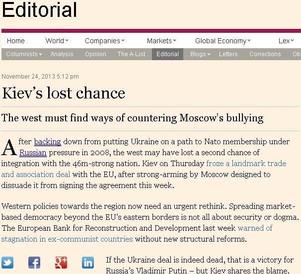 Kiev, ocazia ratată