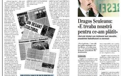 Remember 2004. Cum a devenit Petrisor OBAE laureat TJA scriind despre publicitatea politica pe banii radioului public