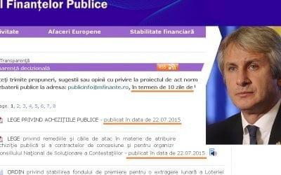 Noile legi pentru achiziții publice. Cerem ministrului Finanțelor prelungirea dezbaterii publice pentru o consultare reală a actorilor implicați