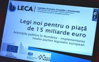 Proiectele noilor legi în achiziții – prima dezbatere publică a fost organizată de FHR și EFOR